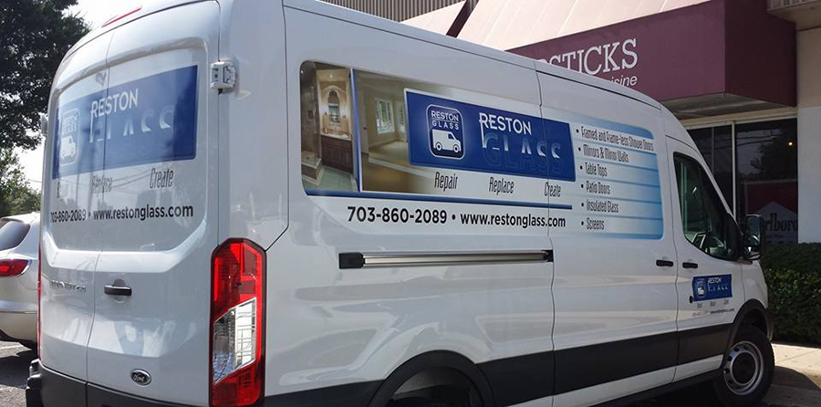 reston glass truck